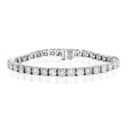 18K White Gold 9.00ct Diamond Bracelet, H1117